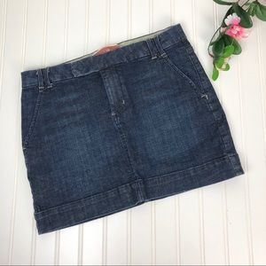 Gap Denim Jean Mini Skirt Sz 4 EUC
